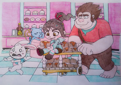 Wreck It Ralph 2: THE BUNNY GETS THE PANCAKE. by PilloTheStar