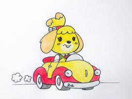 Isabelle driving. by PilloTheStar