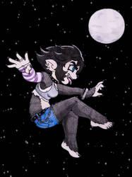 Commission for Werekatt: Kellie at night by PilloTheStar