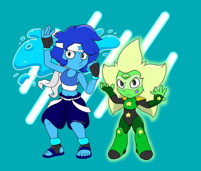Peridot and Lapis - NEW FORMS (my designs) by PilloTheStar