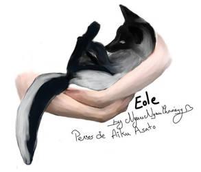 Eole the little Grey Fox from Aiku Asato by kuroi-yamaneko