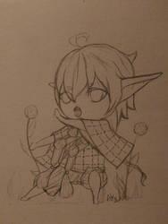 Little sketching by kuroi-yamaneko