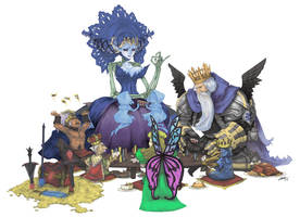 Odin Sphere Kings and Queens by blackbookalpha