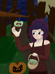 Apple Picking ~ Trick and Treat gift for Arkymoo by PonyKrystal