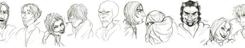 Death Eater Line Up by RohanElf