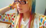 my rainbow hair by breaktheSTORM