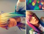 my new rainbow hair. by breaktheSTORM