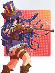 Redraw of Caitlyn the Sniper by Chrotaku