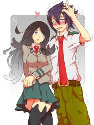 Tamaki x Yuuki [OC BnHA couples request] by Chrotaku