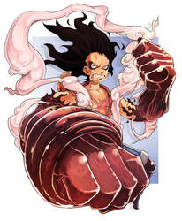 Snakeman Gear 4 Luffy by Chrotaku