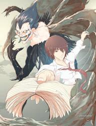 Light and Ryuk (Death Note) - Fanart by Chrotaku