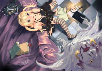 Misa and Rem (Death Note) - Fanart by Chrotaku