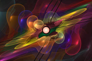 'Light Flame Abstract 228' by SBricker