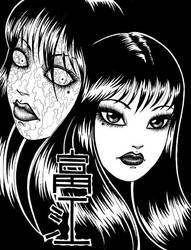 WIP: Tomie the Demon Girl by MentalFloss