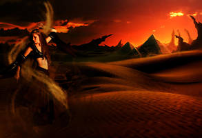 Sorceress of the sunset by Rogerdatter