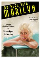 My Week With Marilyn - Vintage Poster by rhezM