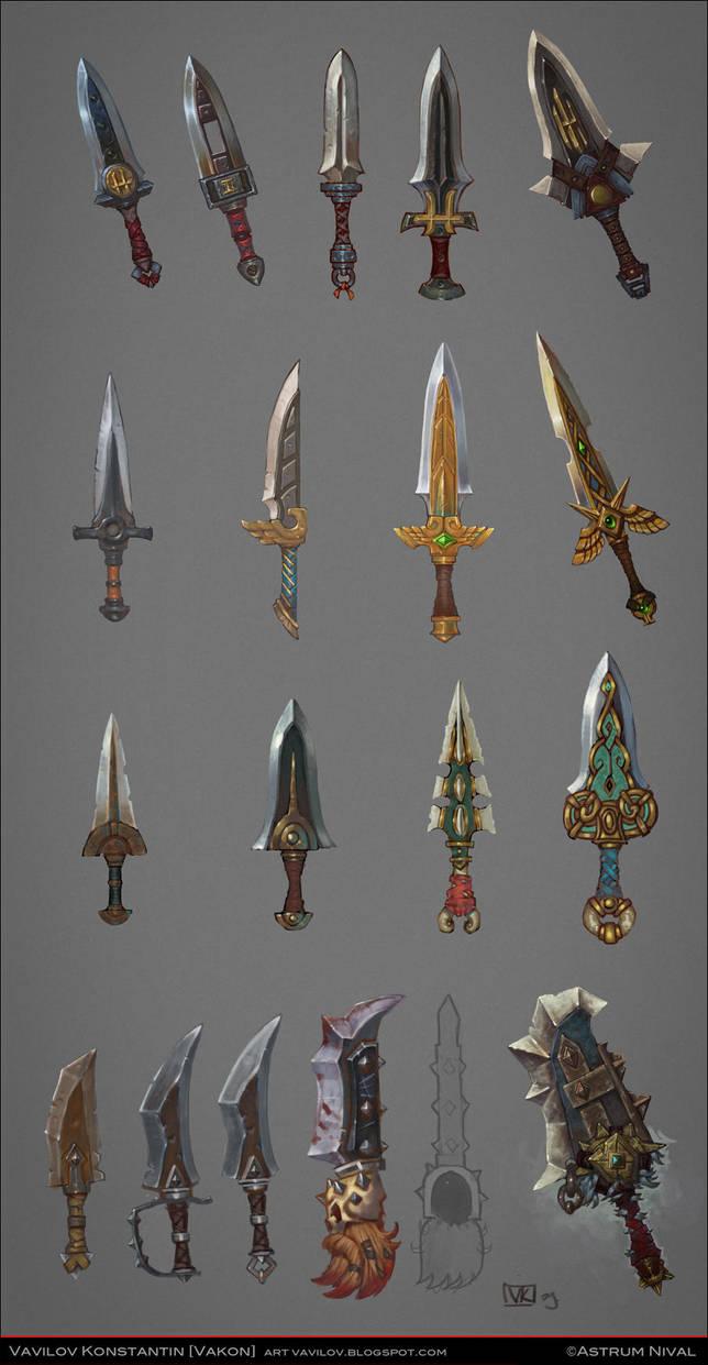 Daggers concepts by Konstantin-Vavilov