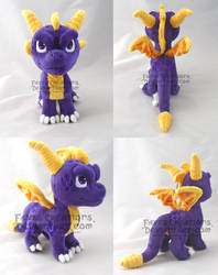 Chibi Spyro SOLD by darkpheonixchild