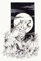 Inktober Werewolf by Kanizo