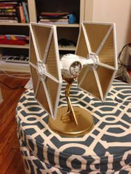 White and Gold TIE Fighter by owendennis