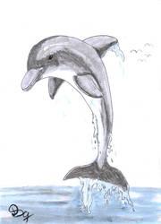 Inktober#4-dolphin by DSC-the-Artist