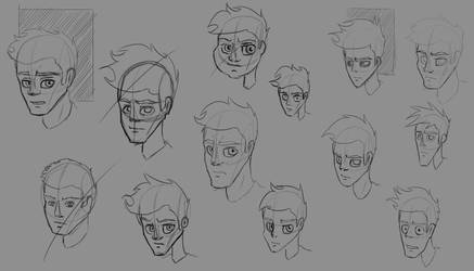 Face Studies - Character Design by DSC-the-Artist
