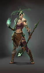 Whispering Witch, early concept by theincredibleandy