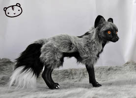 Silver Fox - poseable art doll by LisaToms