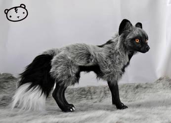 Silver Fox - poseable art doll by LisaToms