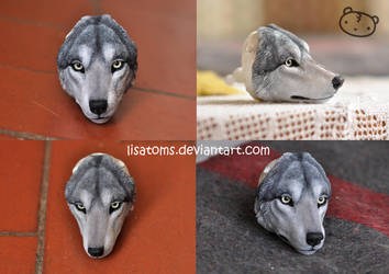 WIP- wolf face by LisaToms