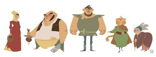 Incidentals Characters- Peasants by vitalstar