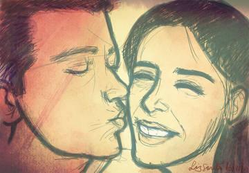 Just a Little Kiss by artelizdesouza