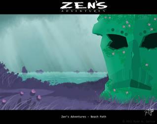 Zen's Adventures 2012 painting 1 by R3dF0x