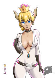 Bowsette racer by Buho01