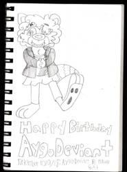Inktober: AygoDeviant Birthday Gift by TonyYorkieSilky1991