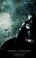 Batman Vs Superman Movie Poster by YoungPhoenix3191