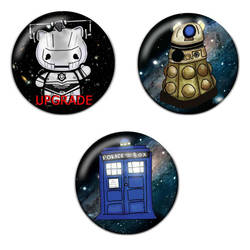 Doctor Science Fiction Pinback Button Badge Bundle by Cosplayfangear