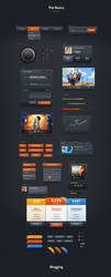 Dark Velvet UI Kit by webdesigngeek