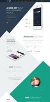 GeekApp - One Page App Landing PSD Template by webdesigngeek