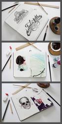 Artist Sketch Book Mockup by webdesigngeek