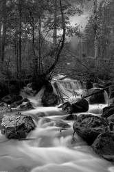 Waterfalls near Hintersee, Ramsau I by JBord