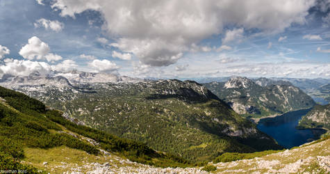 Lake Hallstatt and Dachstein Panorama by JBord