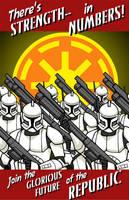 Clone Recruitment Poster by piotrov