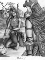 Orc Shaman and Druid Elder by Dungeon-Spirit