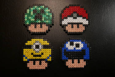 Random Mushrooms #1 - Hama Beads by Nidoran4886