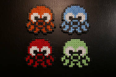 Squid Squad - Pescatore Hama Beads by Nidoran4886