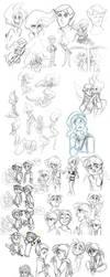Huge arse Sketch dump by littledigits