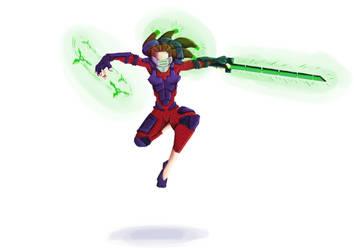 Cyborg Ninja Lady by ParaSyBr