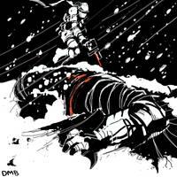 Snow- Batman vs Solid Snake by NoBullet