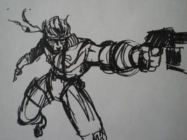 YouTube Solid Snake sketch by NoBullet